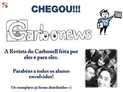Chegou a Revista CARBONEWS