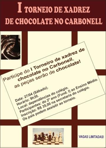 I TORNEIO DE XADREZ DE CHOCOLATE