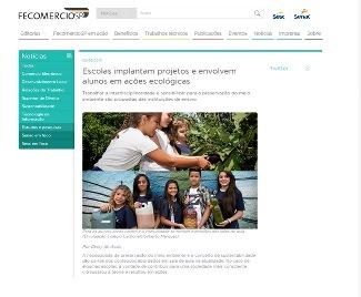 Ações ecológicas do colégio na mídia