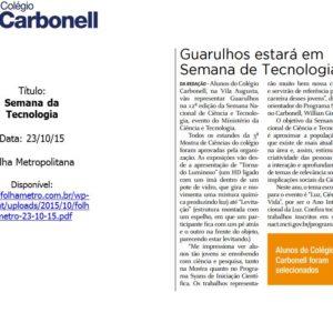 Na mídia 2015: Carbonell na Semana da tecnologia
