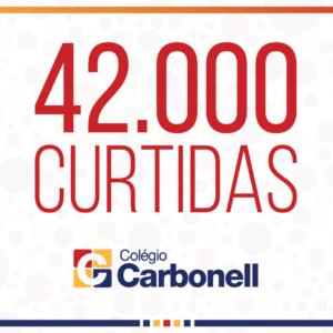 Página do Colégio Carbonell no Facebook chega a 42 mil seguidores