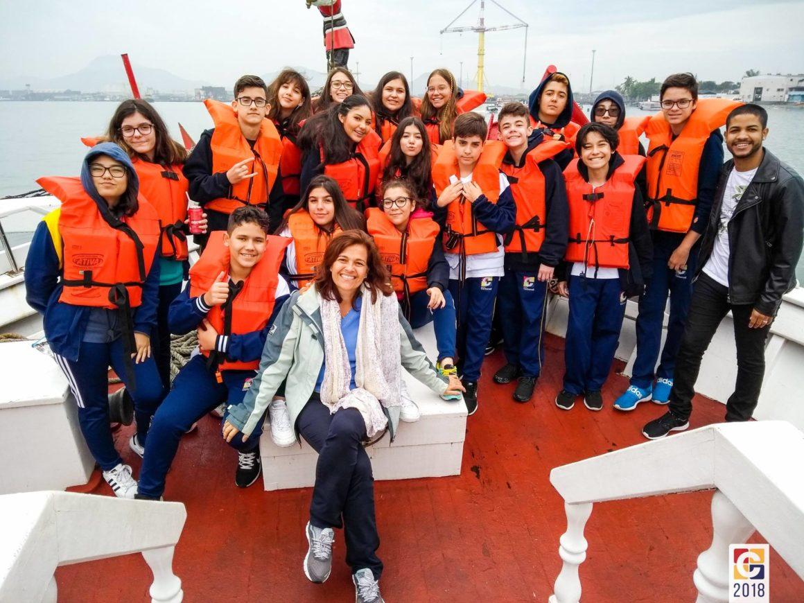 Carbonell em Santos: grupo de alunos viajou para uma experiência inesquecível no litoral