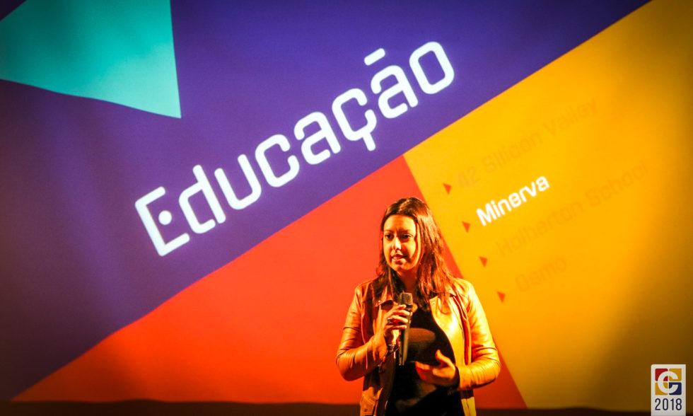 """Empreendedora e empresária Bel Pesce apresenta palestra """"O Futuro Que Já Existe"""" no Colégio Carbonell"""