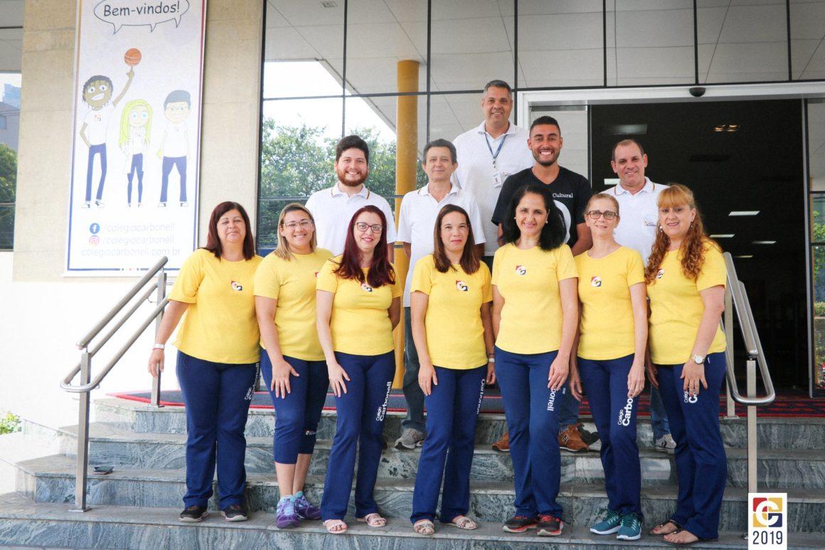 #EquipeCarbonell: em série que prestigia nossos colaboradores, fotos dos Agentes de Organização Escolar
