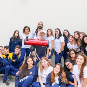 Espelhos Esféricos: estudantes do Ensino Médio observam objetos com telescópio no Carbonell