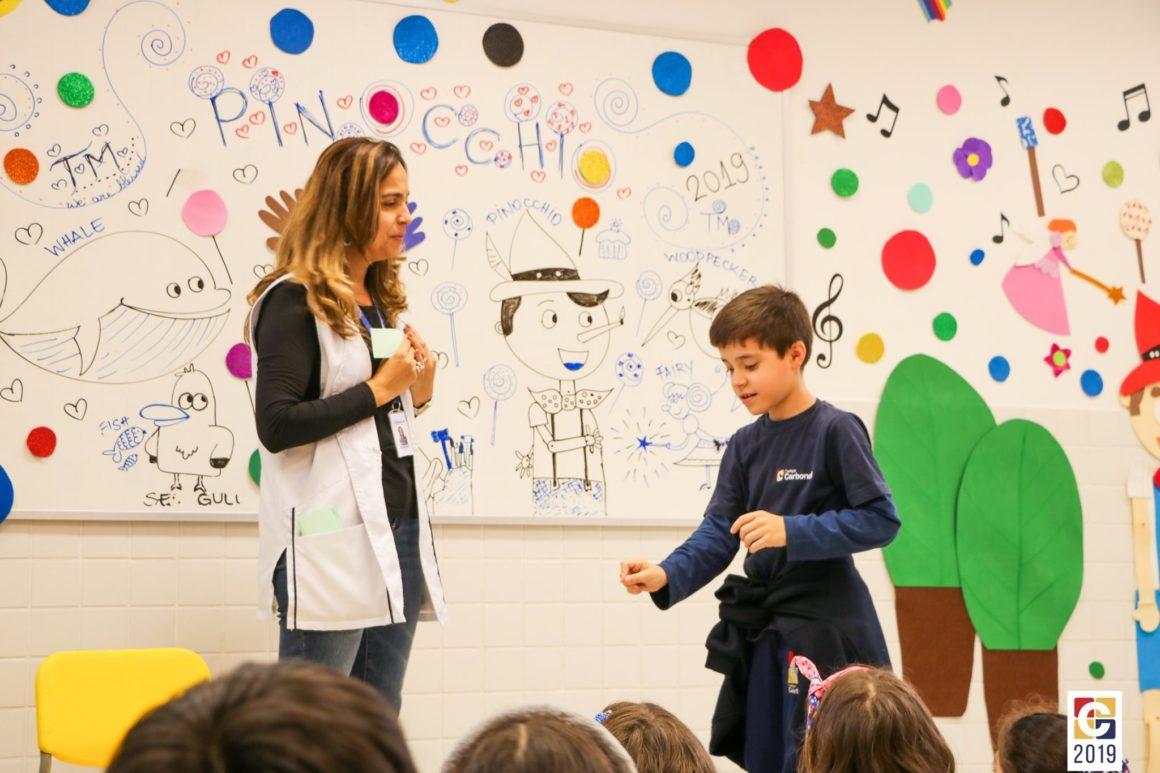 """""""O que você vai ser quando crescer?"""": em aula de inglês, turminhas do Integral refletem sobre profissões do futuro"""