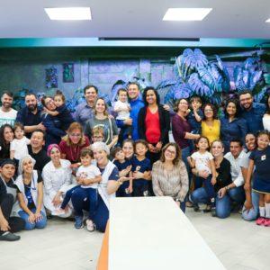 Turminhas do Integral receberam familiares para mais uma edição do almoço em família no Colégio Carbonell