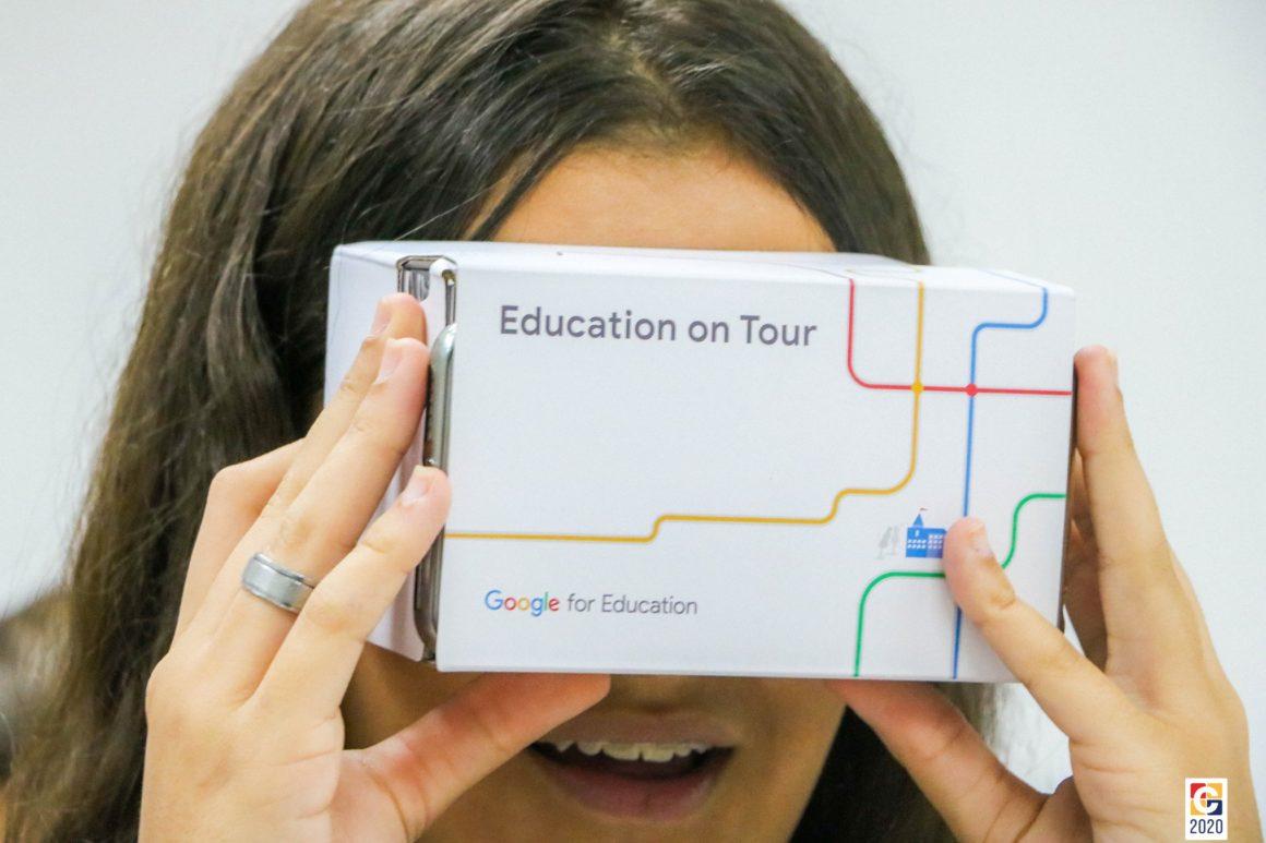 Em atividade interdisciplinar, alunos do Carbonell produzem óculos de realidade virtual com material reciclável