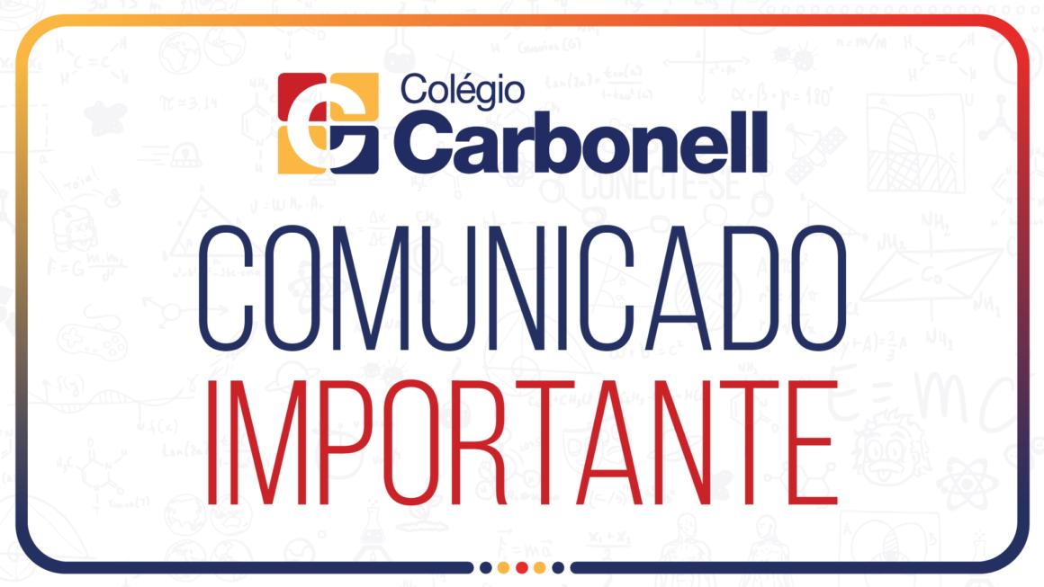 Colégio Carbonell segue com as aulas presenciais suspensas; atividades continuam online e não há previsão de retorno