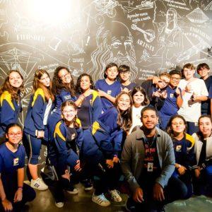 500 anos de um gênio: no MIS, estudantes do Colégio Carbonell visitam exposição sobre Leonardo da Vinci