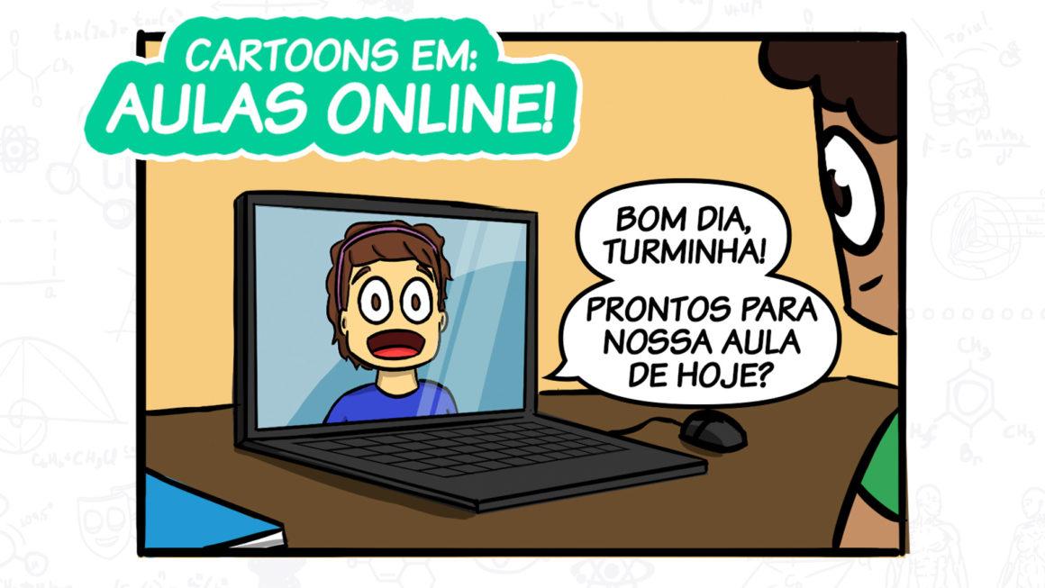 Em mais uma tirinha, personagens do Cartoons falam sobre nova audiência das aulas online