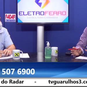 Sobre a retomada: Mantenedor Wilson Lourenço é entrevistado por Pedro Notaro no Radar de Notícias
